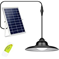 Upgraded 3-Color in 1 Solar Lights Outdoor 16.4FT, IP65 Waterproof Solar Pendant Light with Remote Control, 9.8in Large…