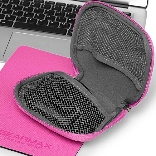 Laptoptasche 11,6 Zoll, Urcover Notebooktasche Campus Slim Edition Aktentasche Tasche für Laptop Notebook MacBook mit einer Kunstoff Tasche + Mauspad Pink Pink