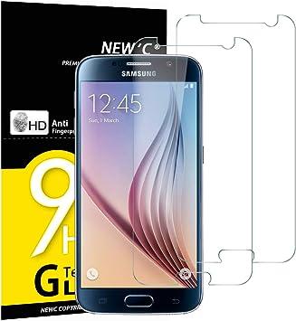 NEWC 2 Unidades, Protector de Pantalla para Samsung Galaxy S6 ...