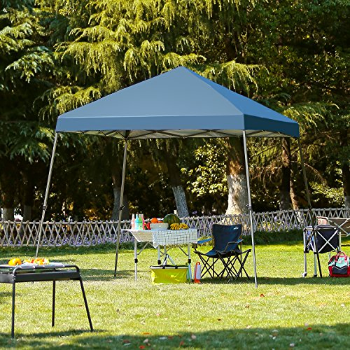 SunTime 10 x 10 Slant Leg Instant Canopy Pop Up Portable Canopy Sun Shade Tent