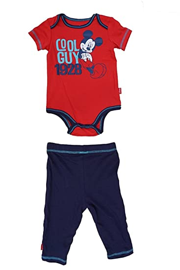 ea051ba94e5 Amazon.com: Disney COOL GUY Mickey Mouse CREEPER & SOLID PANT Outfit ...