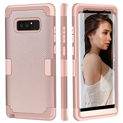 Galaxy Note 8 Case, AOKER [Updated Version] [Fashion Design] [Non-Slip Feature] Shockproof Anti-Scratch High Impact Perfect Protective Case Cover for Samsung Galaxy Note 8 (Rosegold 2)