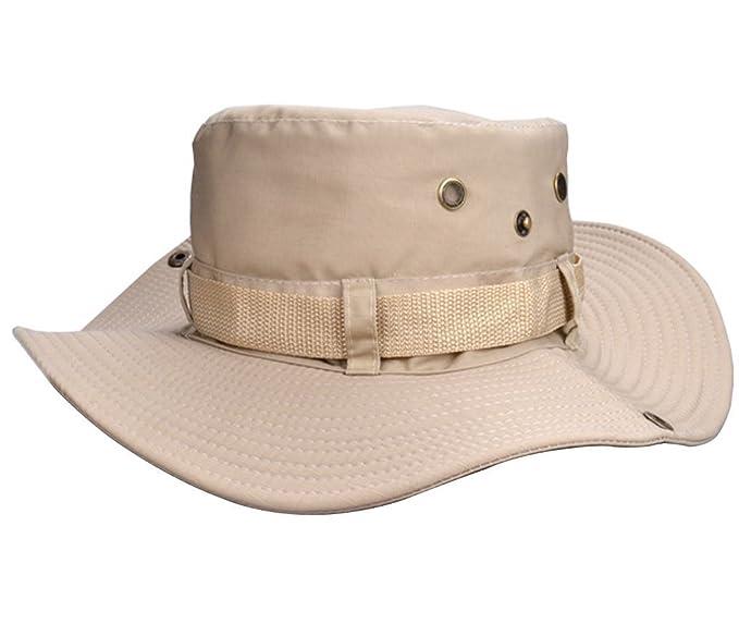 ... Sombrero para Exteriores Pesca Camping Ciclismo Caza Golf Senderismo Playa, Exteriores, Mujer Hombre Infantil (Beige): Amazon.es: Ropa y accesorios