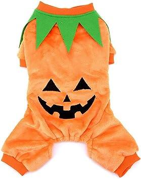 Zunea Disfraz de Calabaza de Halloween, Mascotas, Ropa de Invierno ...