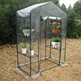 Portable Garden Greenhouse, Warm Green House for Flower Plants Gardening Outdoor Use (143 x 73 x195cm)
