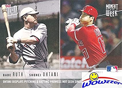Babe Ruth Shohei Ohtani 2018 Topps Moment The Week Limited