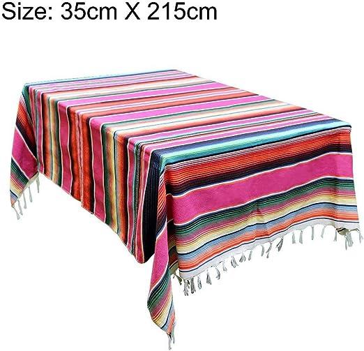Manta mexicana - Gran manta de playa de estilo étnico a rayas de ...