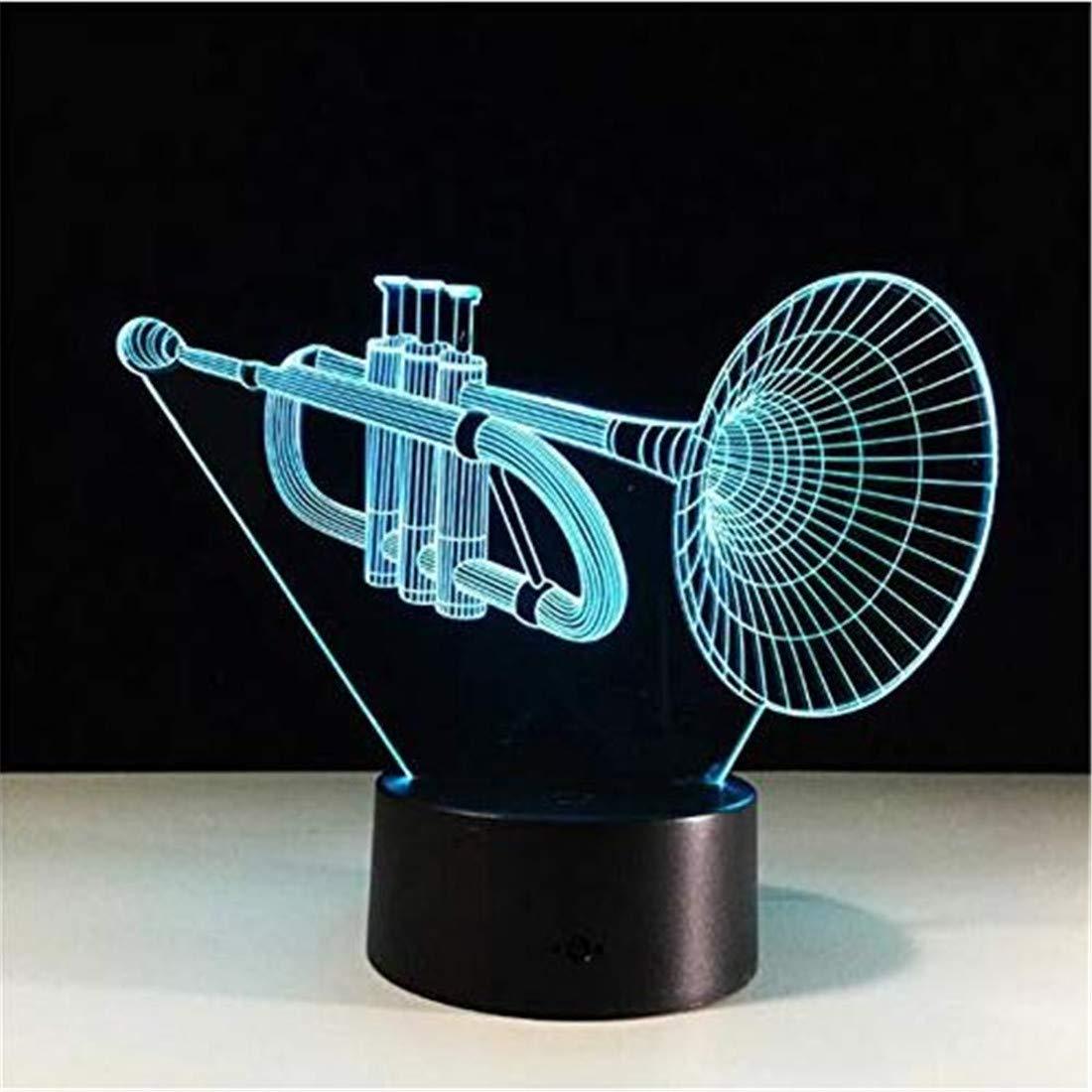 Led Holograma 3d Lámpara Instrumentos Musicales Diseño De Saxofón LpqzjUSMVG