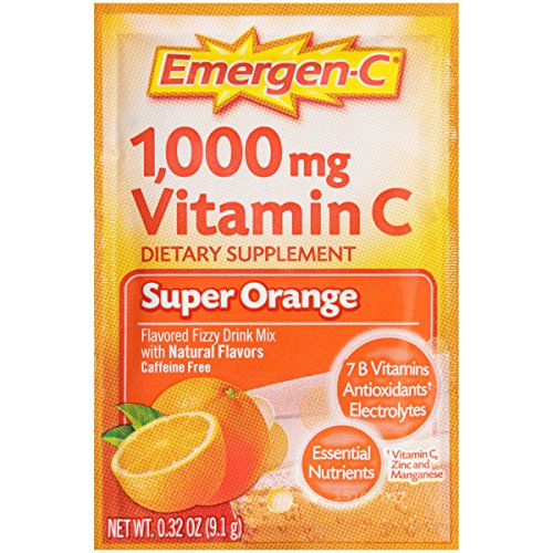 076314302970 - Emergen-C Dietary Supplement with 1000mg Vitamin C (Super Orange Flavor, 10-Count 0.32 oz. Packets) carousel main 6
