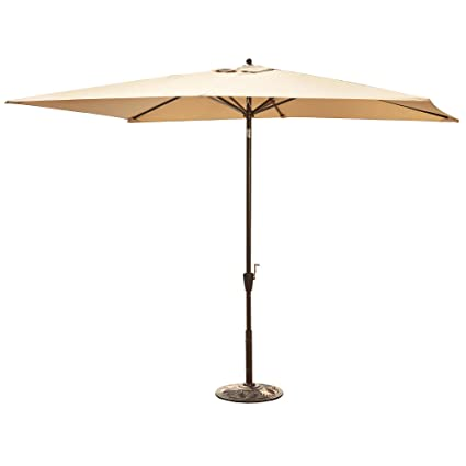 Superbe Adriatic 6.5 Ft X 10 Ft Rectangular Market Umbrella In Beige Sunbrella  Acrylic