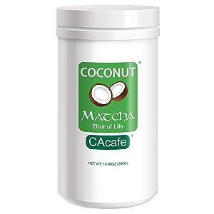 CAcafe Coconut Matcha Creamy and Sweet Japanese Health Drink 540g Jar, 19.05 Ounce