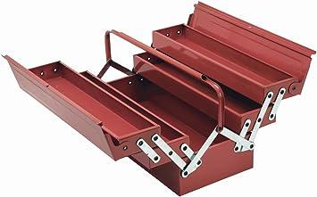 Cogex 62100 - Caja de herramientas (metálica, 5 compartimentos): Amazon.es: Bricolaje y herramientas