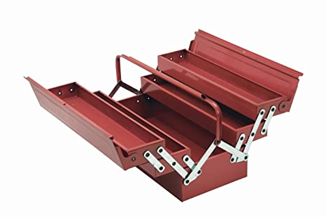 Cogex 62100 - Caja de herramientas (metálica, 5 compartimentos)