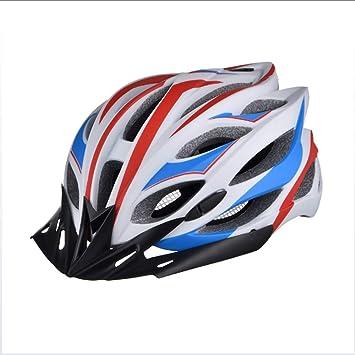 Casco De Bicicleta con Luz De Seguridad, CE Certificado Ajustable Deporte Ciclismo Casco Bicicleta Cascos