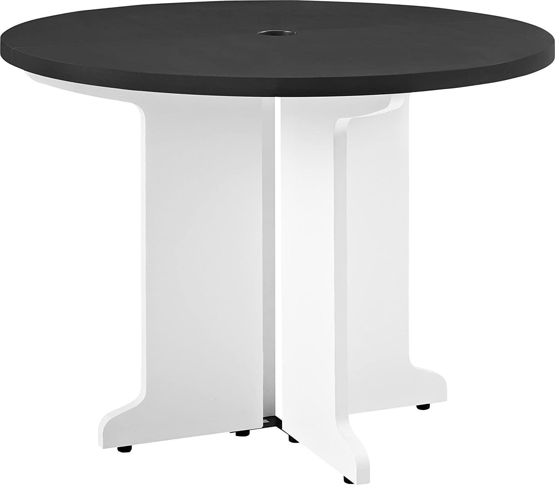 Amazon Com Ameriwood Home Pursuit Round Table Gray Furniture Decor