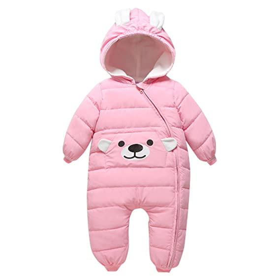 Bebone - Traje de Nieve - para bebé niño Rosa Rosa 6-9 Meses ...