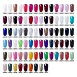 CLAVUZ Gel Nail Polish Set Soak Off UV LED Dryer Nail Lacquer Nail Art Kit All 79 colors
