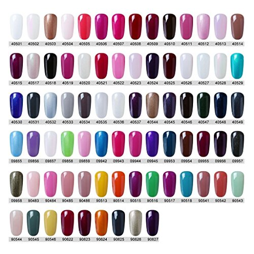 CLAVUZ Gel Nail Polish Set Soak Off UV LED Dryer Nail Lacquer Nail Art Kit All 79 colors by CLAVUZ