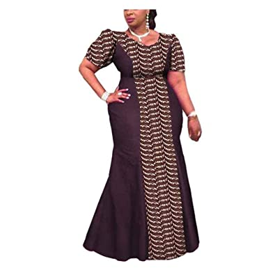 9469747e4b877 Amazon.com  African Dresses for Women Plus Size Pregnant Traditional  Handmade Ankara Clothing Clothes  Clothing