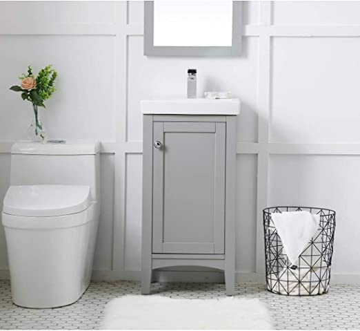 Amazon Com Indigo Home Wood Finish Single 18 Inch Bathroom Vanity