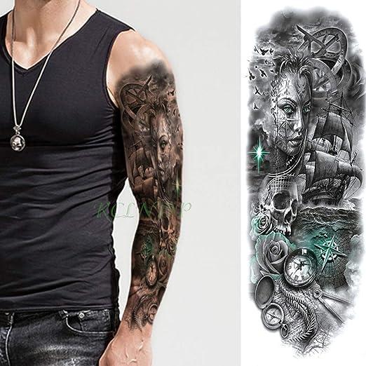 tzxdbh 5Pcs-Totem Impermeable de la Etiqueta engomada del Tatuaje ...