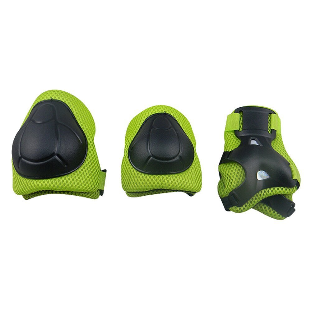 F/&U Kids Youth Sports Protective Gear Set with Helmet Elbow Knee Wrist Safety Pad Safeguard for Rollerblading Bicycle BMX Bike Skateboard Outdoor Activities