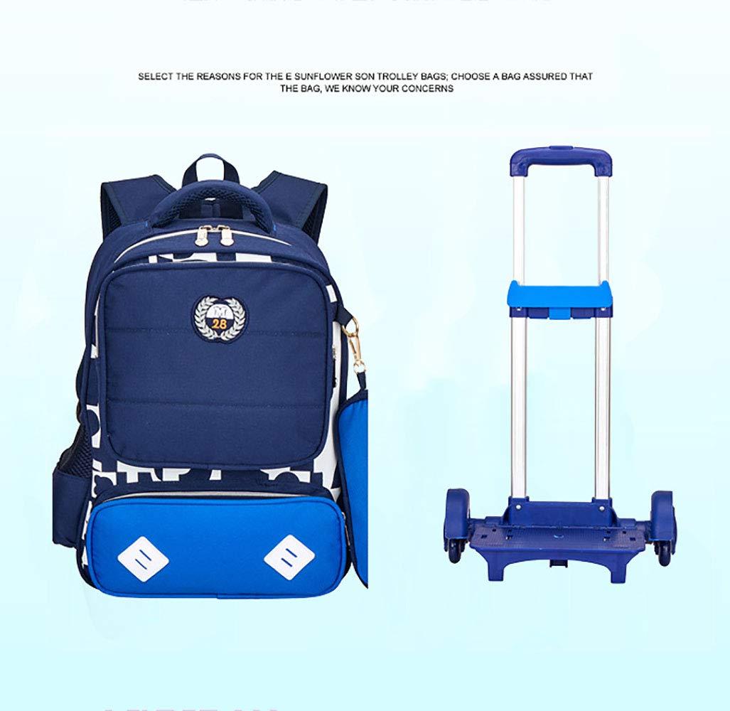 9aaaeb9cb6e0 Amazon.com : JQXB Kids Trolley Backpack School Bag Boys Girls ...