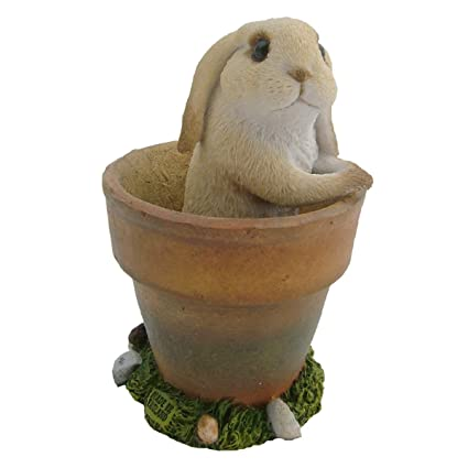 Lop Eared Rabbit Pet Ornament Figurine Statue Amazon Co Uk