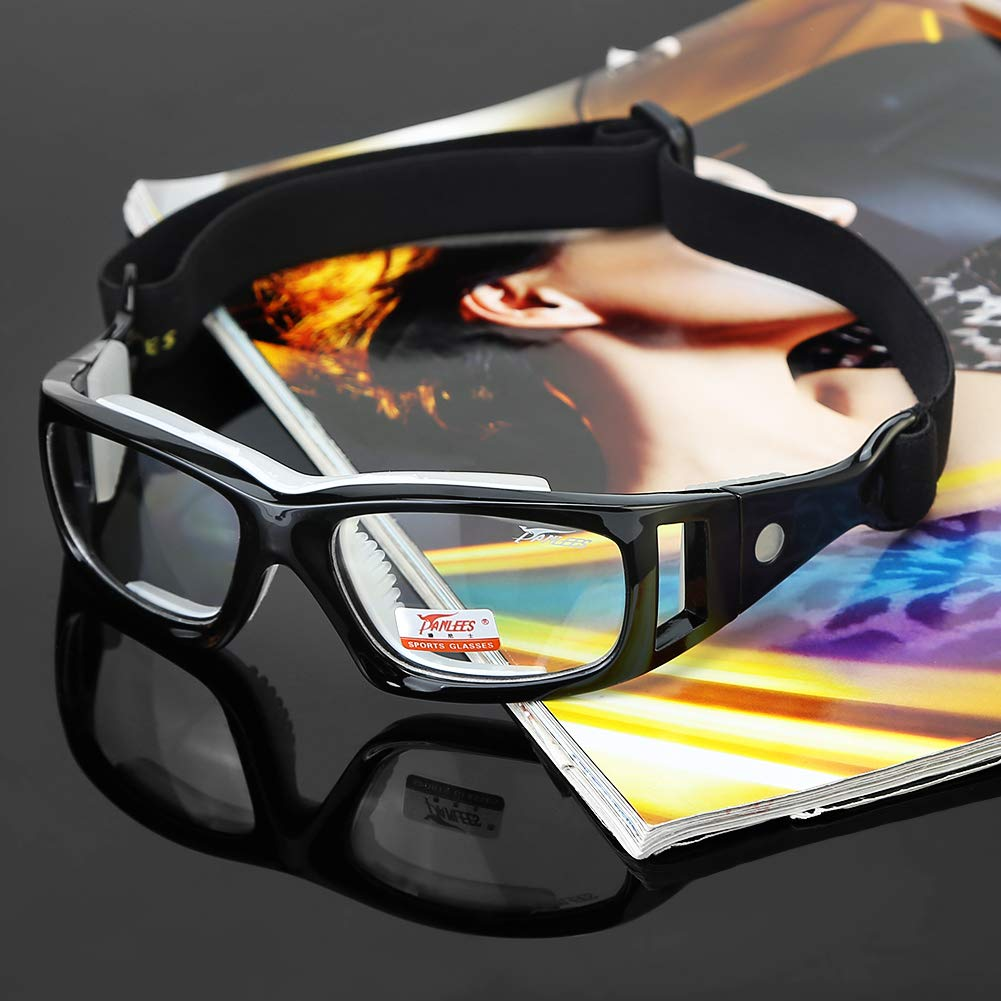 a98cf1e5a65 Amazon.com   Panlees Goggles Sports Glasses Adjustable Elastic Wrap Eyewear  For Soccer Basketball Tennis Lover (Black)   Sports   Outdoors