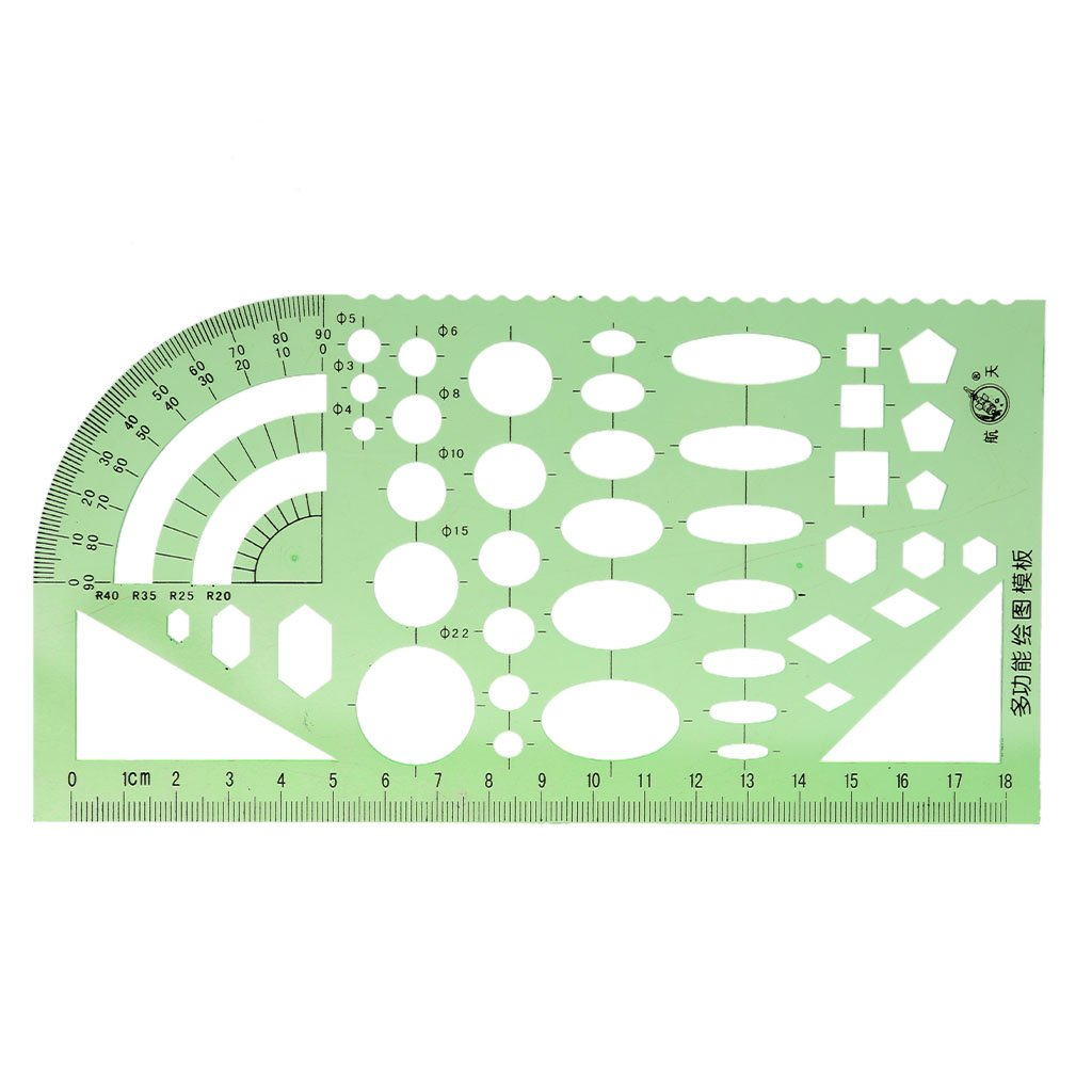 MagiDeal Plastic Drafting Drawing Tool Ruler Geometric Oval Template for Students 1
