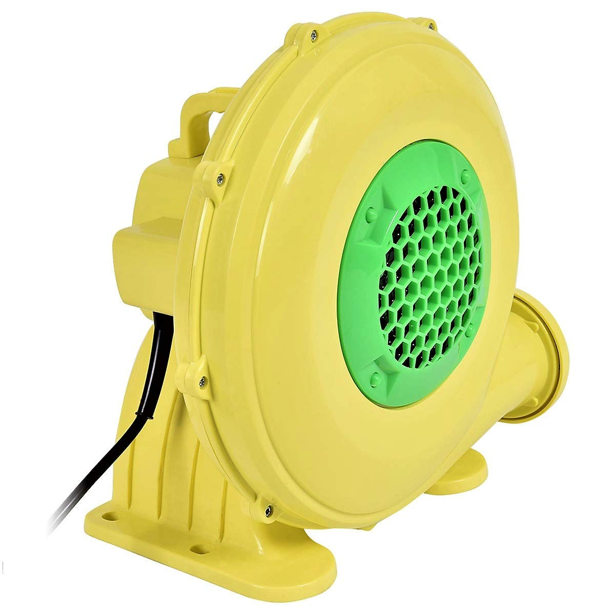 Lucky-gift - 480 W 0.64 HP Air Blower Pump Fan for Inflatable Bounce House - Air Blower Motor Compressor Bouncy Castle House - Balloon Blower Pump Electric - 480 Watts Blowing Yard Top-Mounted Handle by Lucky-gift