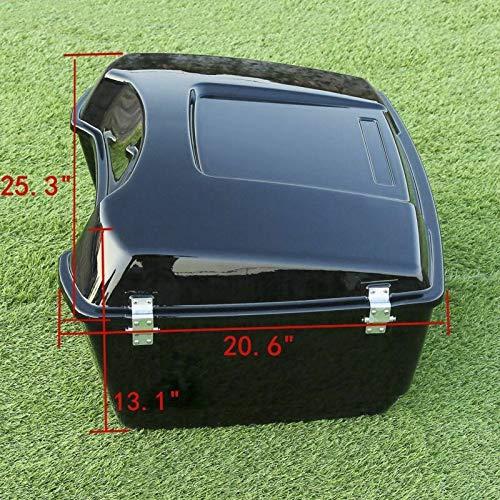 TCMT King Tour Pak Pack Trunk Luggage Rack Backrest Fits For Harley Touring 1997-2013 (King Tour Pak Trunk) by TCMT (Image #4)