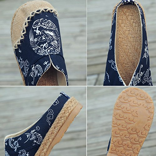Espadrilles Canvas Oxford Flat Lino Donna Bottom Pantofole Loafers A da HUAN Shoes WqBUffn