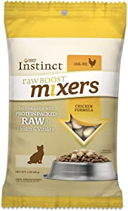 Instinct Freeze Dried Raw Boost Mixers Grain Free Recipe All Natural Cat Food Topper By Nature'S Variety