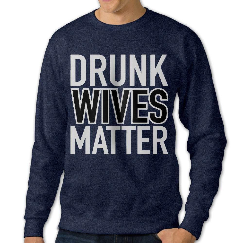 LLiYing-D Drunk Wives Matter Adult Mens Sports Long Sleeve Sweater T-Shirts
