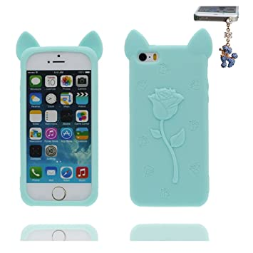 Carcasa iPhone 5, iPhone 5S Case [ TPU 3D Cartoon Orejas de ...
