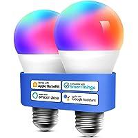meross Intelligente led-gloeilamp, dimbaar, meerkleurig, E27, 9 W, Smart Light RGBCW, compatibel met Homekit…