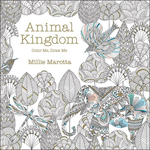 Adult Coloring Book Animal Kingdom Animals Out The Wazoo