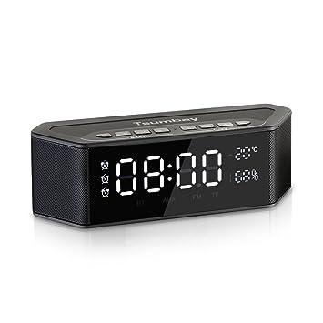 Amazon.com: Alarm Clock Radio with Bluetooth Speakers and Digital ...