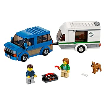 Amazon.com: LEGO City Great Vehicles Van & Caravan 60117 Building ...