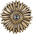 Waterwood Solid Brass Sunflower Doorbell in Antique Brass