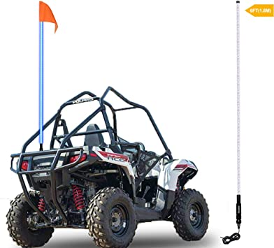 6 Foot Whip Antenna Flag UTV ATV Motorcycle for Can-Am Polaris RZR 1000