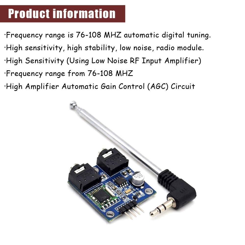 Amazon com: Ximimark 1Pcs TEA5767 Radio Module FM Stereo