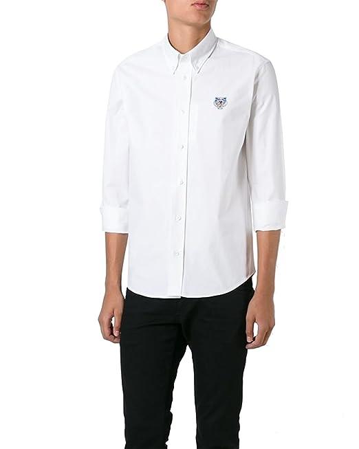 Kenzo Paris - Camisa para Hombre Mini Tiger - Blanco, M: Amazon.es: Ropa y accesorios