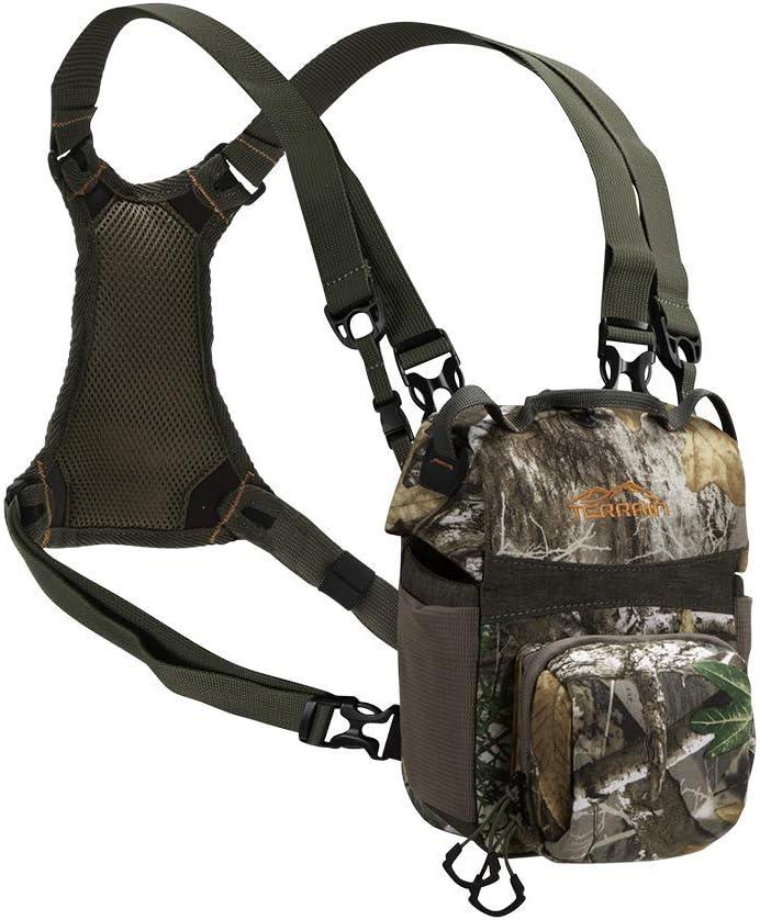 Terrain Mesa Deluxe Bino Case with Harness by Allen, Realtree Edge, Green