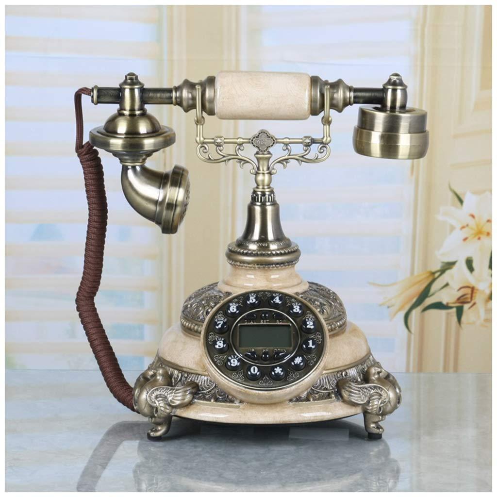 Telephones Hands-Free Phone Resin Handle Landline Home Fixed Retro Phone Creative Vintage Screen Backlight Fashion Retro Phone (Color : B)