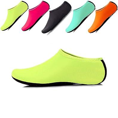 23bb83339cd6 JIASUQI Niños, Mujeres y Hombres Clásicos Descalzos Deportes Acuáticos  Zapatos de Piel Calcetines Aqua para la Playa de Natación Surf Yoga  Ejercicio