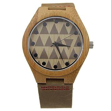 Malloom®Nueva llegada moda bambú de madera cuero de la PU relojes lujo hombres regalo (estilo 1): Amazon.es: Deportes y aire libre