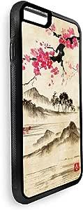 ديكالاك كفر ايفون 8 بلس بتصميم لوحة فنية - ريف الصين - متعدد الالوان