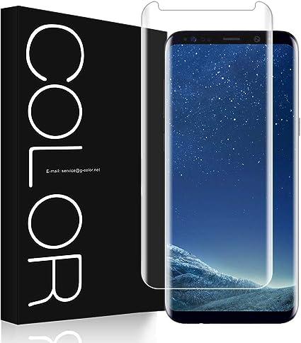 G-Color Galaxy S8 Protector Pantalla, [Alta Viscosidad], Cristal Vidrio Templado de 3D [Cobertura [Anti-Choque][Alta Sensibilidad] Protector de Pantalla para Samsung Galaxy S8: Amazon.es: Electrónica